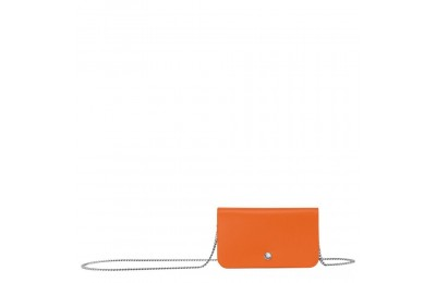 Le Pliage Néo Pochette chainette - Orange Pas Cher