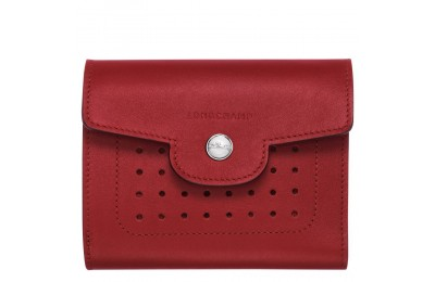 [Soldes] - Mademoiselle Longchamp Portefeuille compact - Grenat
