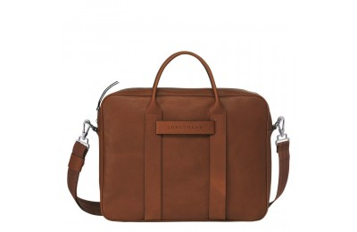 [Soldes] - Longchamp 3D Porte-documents - Cognac