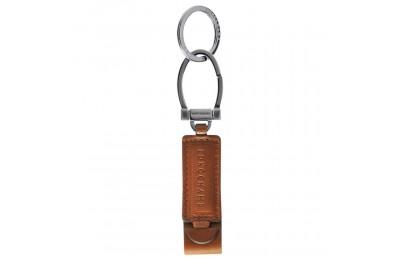 Longchamp 3D Porte-clés - Cognac Pas Cher