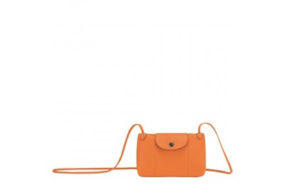 Le Pliage Cuir Sac porté travers - Orange Pas Cher