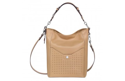 Mademoiselle Longchamp Besace - Beige Pas Cher