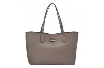 Roseau Sac shopping L - Gris Soldes