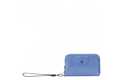 Le Pliage Cuir Portefeuille compact - Bleu Pas Cher
