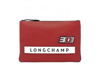 Longchamp 3D Pochette - Brique Pas Cher
