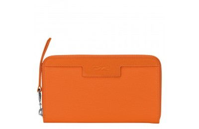 [Vente] - Le Pliage Néo Portefeuille long zippé - Orange