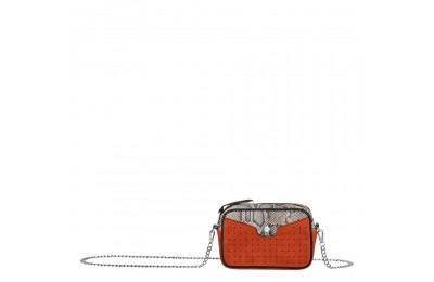 Mademoiselle Longchamp Pochette - Orange Pas Cher