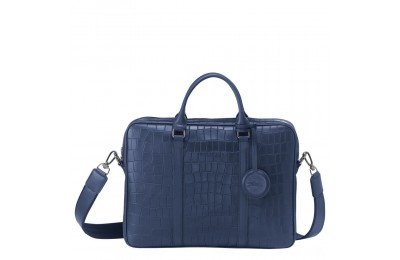 Croco Block Porte-documents XS - Marine Soldes