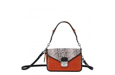 Mademoiselle Longchamp Sac porté épaule - Orange Pas Cher