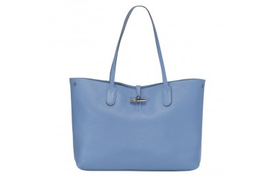 Roseau Sac shopping L - Bleu Pas Cher