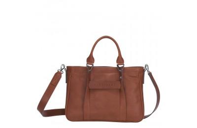 [Soldes] - Longchamp 3D Sac porté main - Cognac