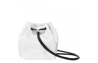Roseau Mini sac seau - Blanc Pas Cher
