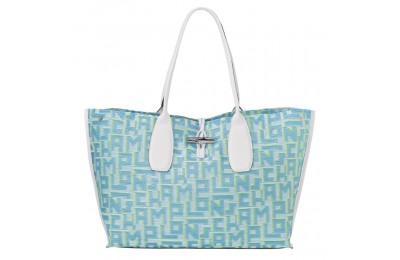 Roseau Sac shopping XL - Bleu Pas Cher
