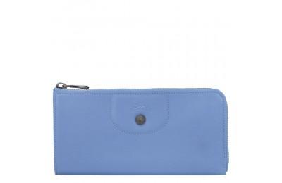 [Vente] - Le Pliage Cuir Portefeuille long zippé - Bleu