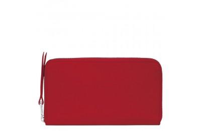 Le Foulonné Portefeuille long zippé - Rouge Pas Cher