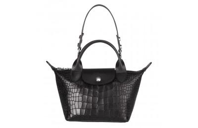 [Vente] - Le Mini Pliage Cuir Mini sac porté main - Noir