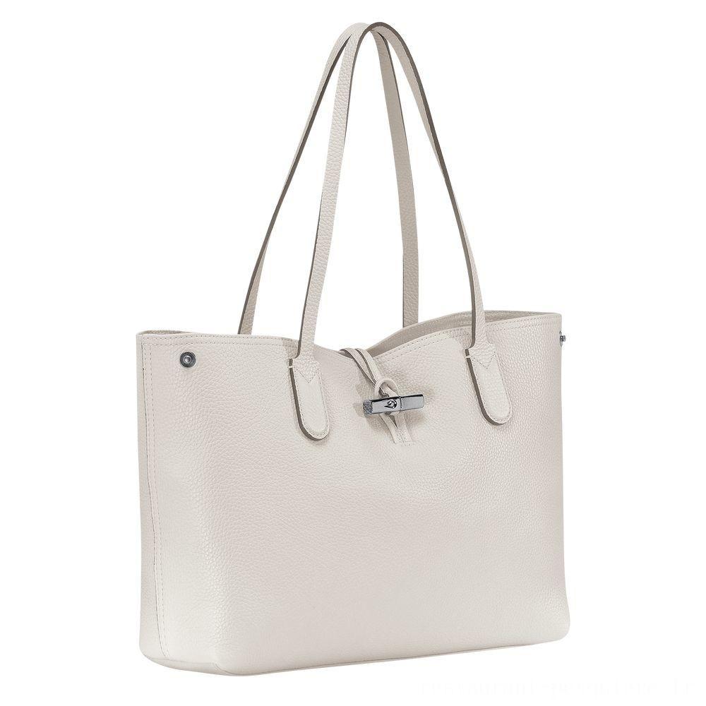 [Vente] - Roseau Sac shopping M - Talc