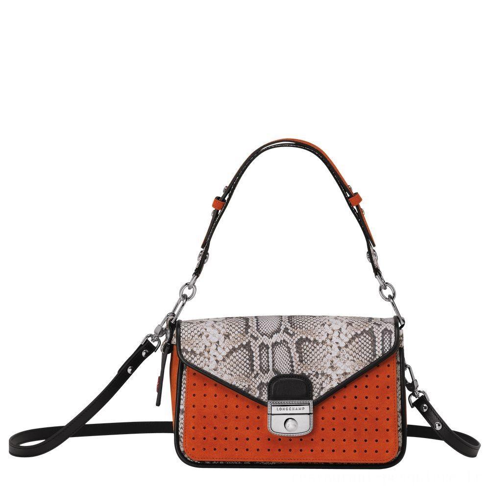 Mademoiselle Longchamp Sac porté épaule - Orange Soldes