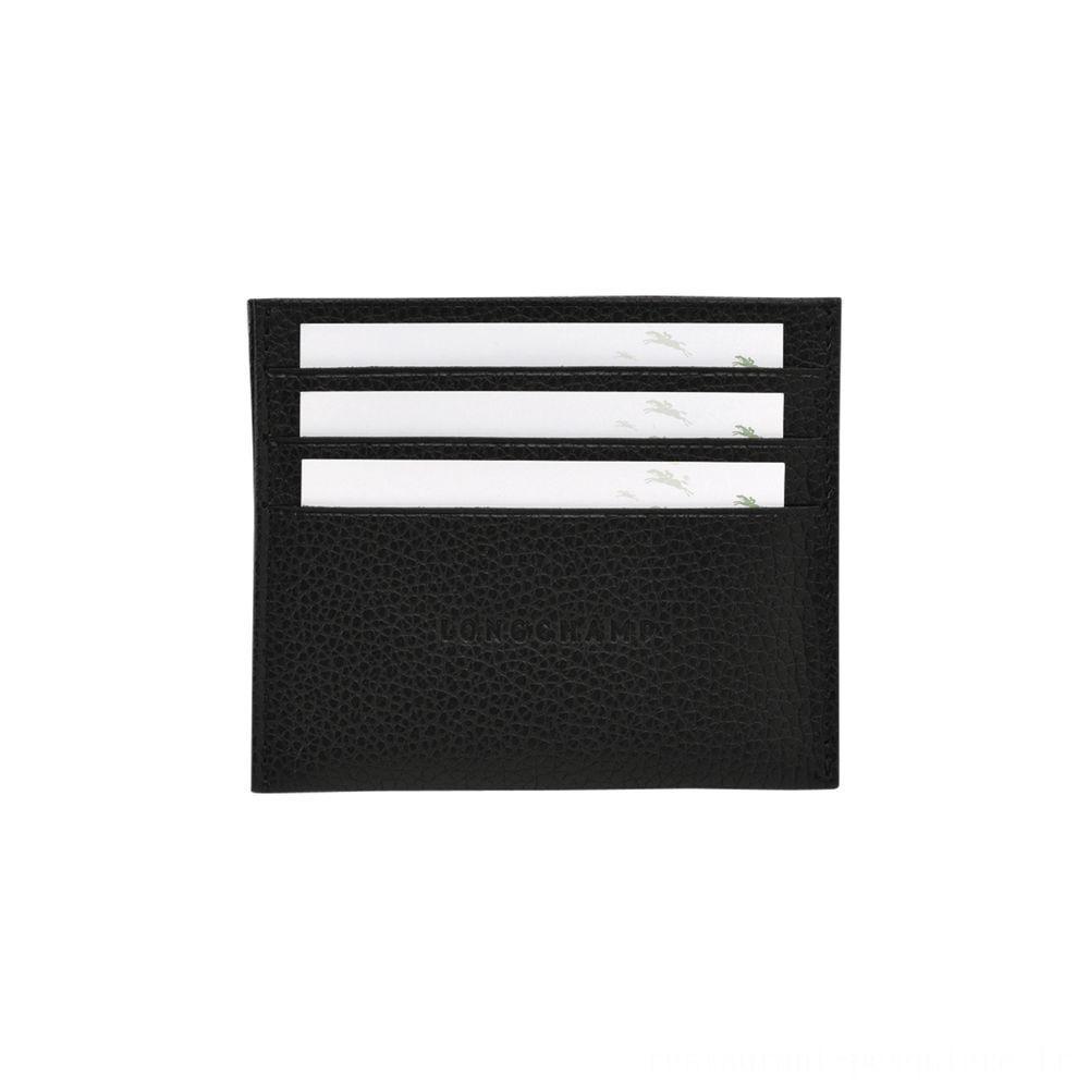 [Vente] - Le Foulonné Porte-cartes - Noir