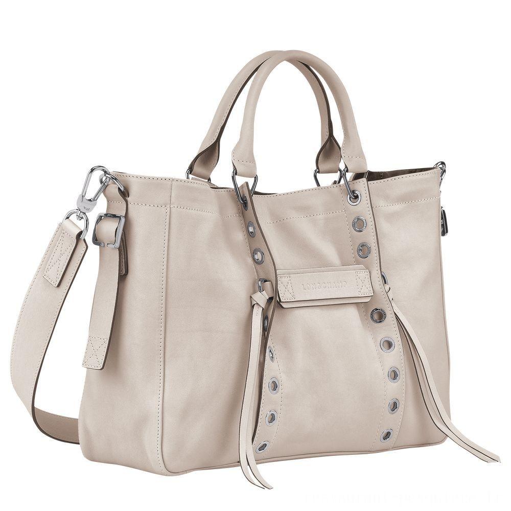 [Soldes] - Longchamp 3D Sac porté main - Argile