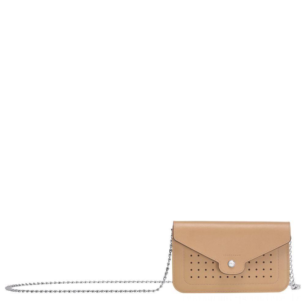 [Vente] - Mademoiselle Longchamp Pochette chainette - Beige