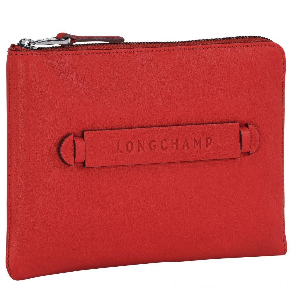 [Soldes] - Longchamp 3D Etui iPad Mini® - Vermillon
