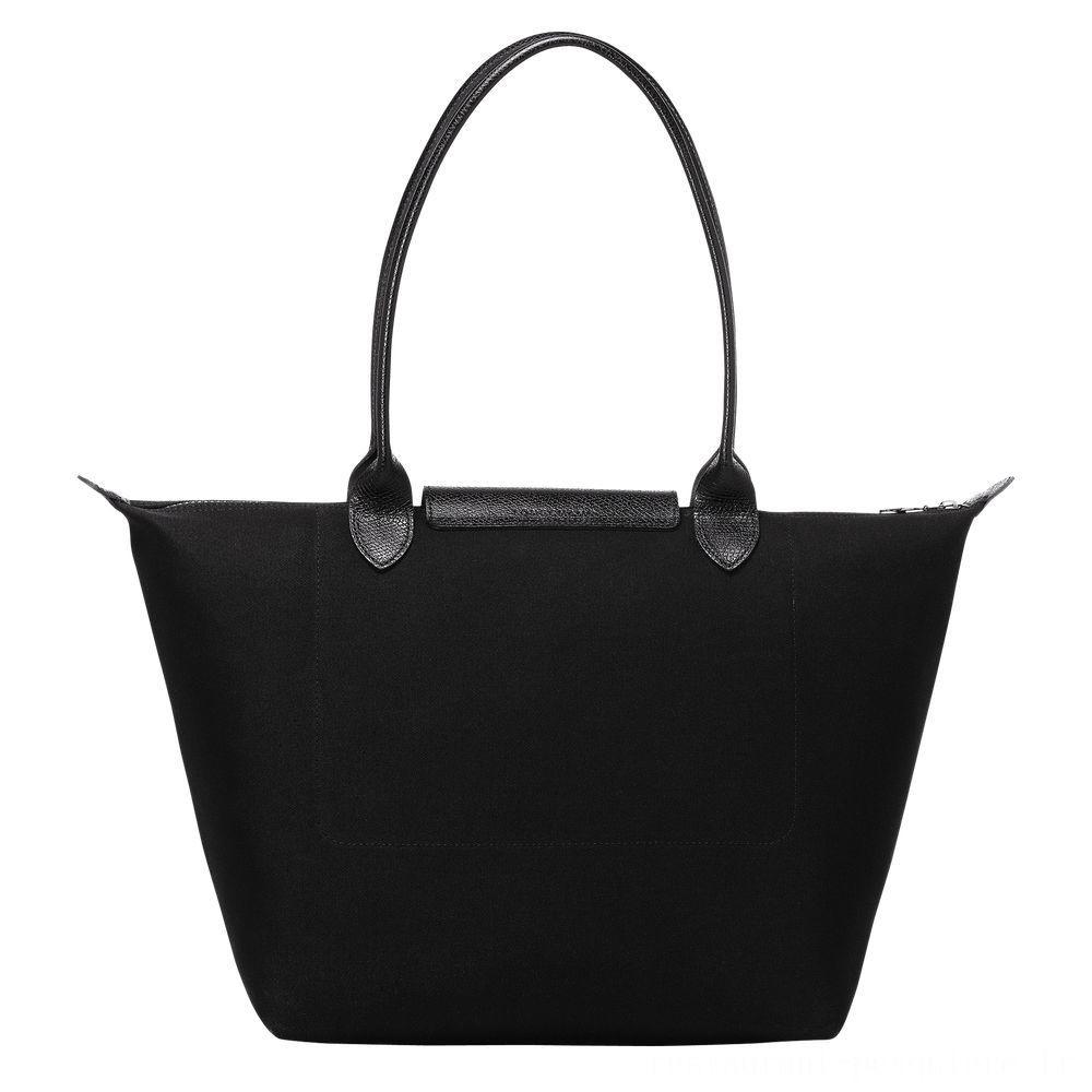 [Soldes] - Le Pliage LGP Sac porté épaule - Noir/Blanc
