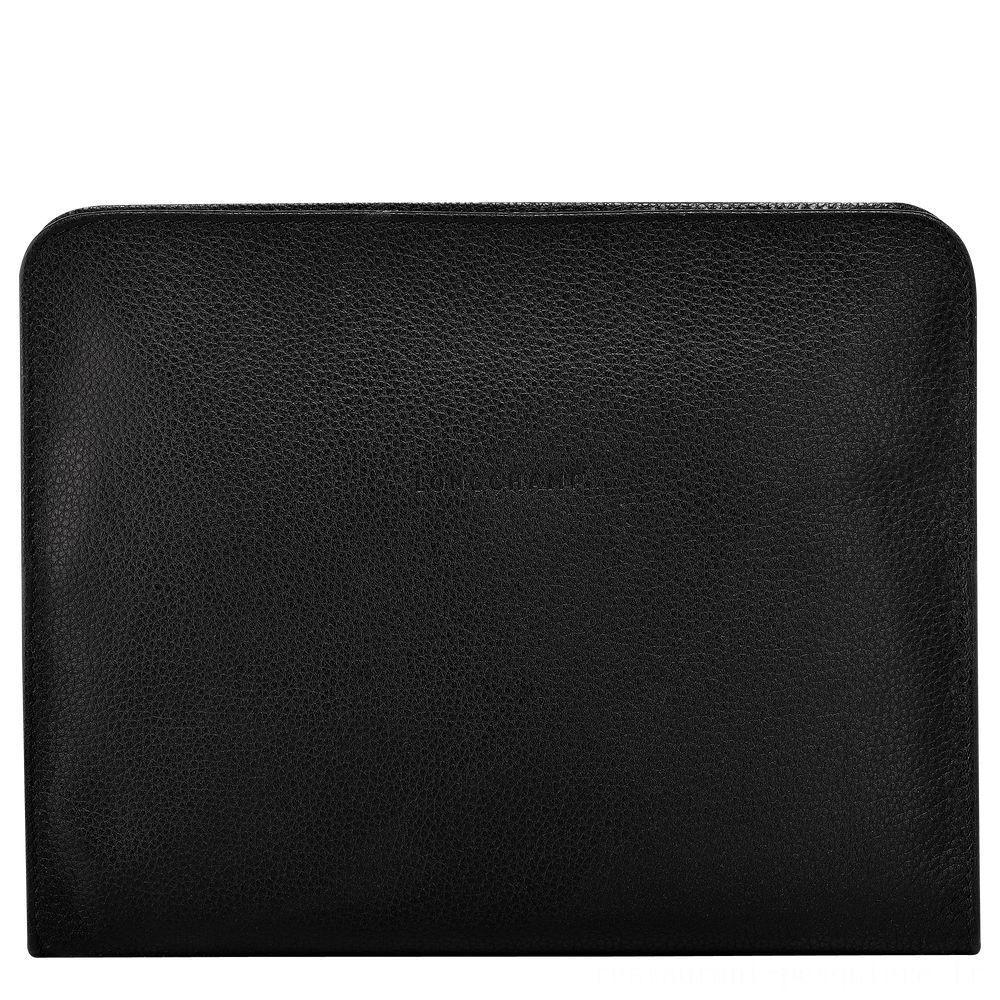 Le Foulonné Étui iPad® - Noir Pas Cher