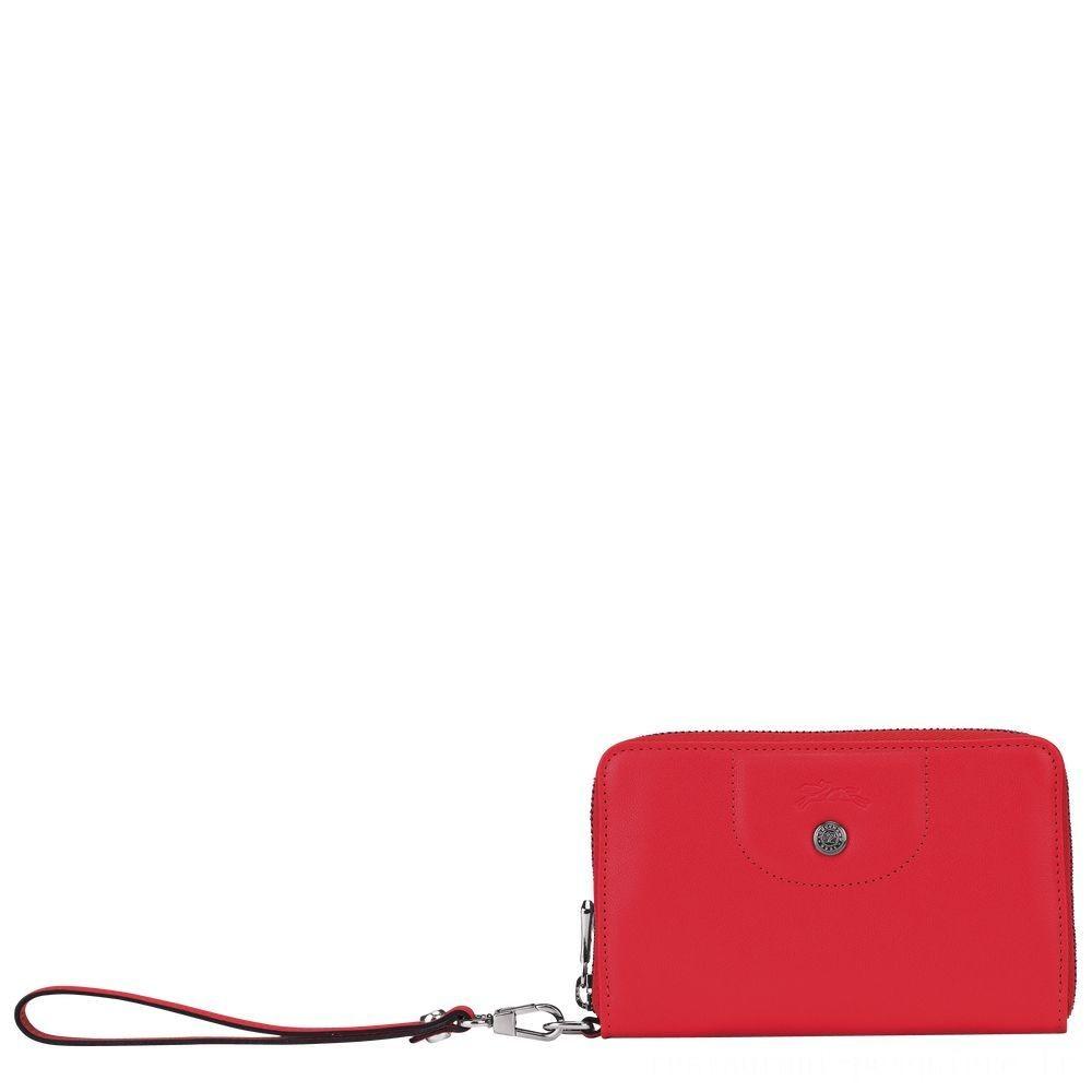 [Soldes] - Le Pliage Cuir Portefeuille compact - Rouge