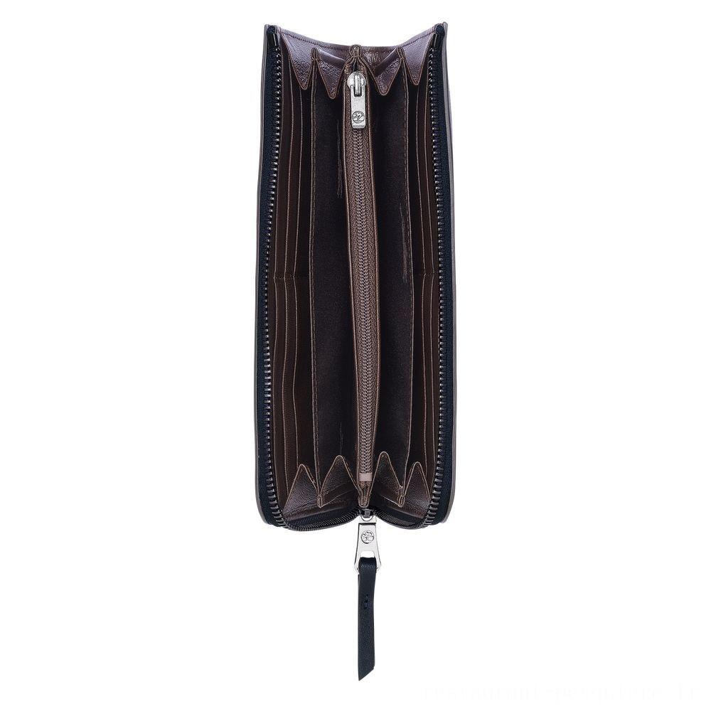 [Vente] - Longchamp 3D Portefeuille zippé - Minuit