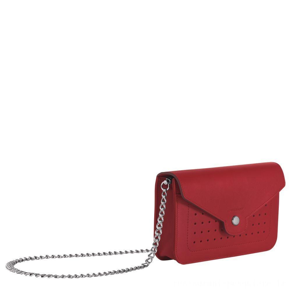 [Vente] - Mademoiselle Longchamp Pochette chainette - Grenat