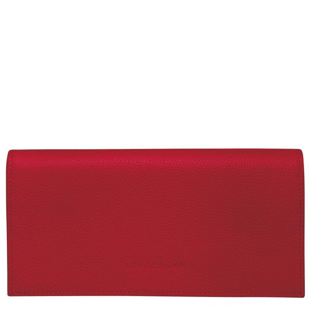 [Soldes] - Le Foulonné Portefeuille à rabat - Rouge