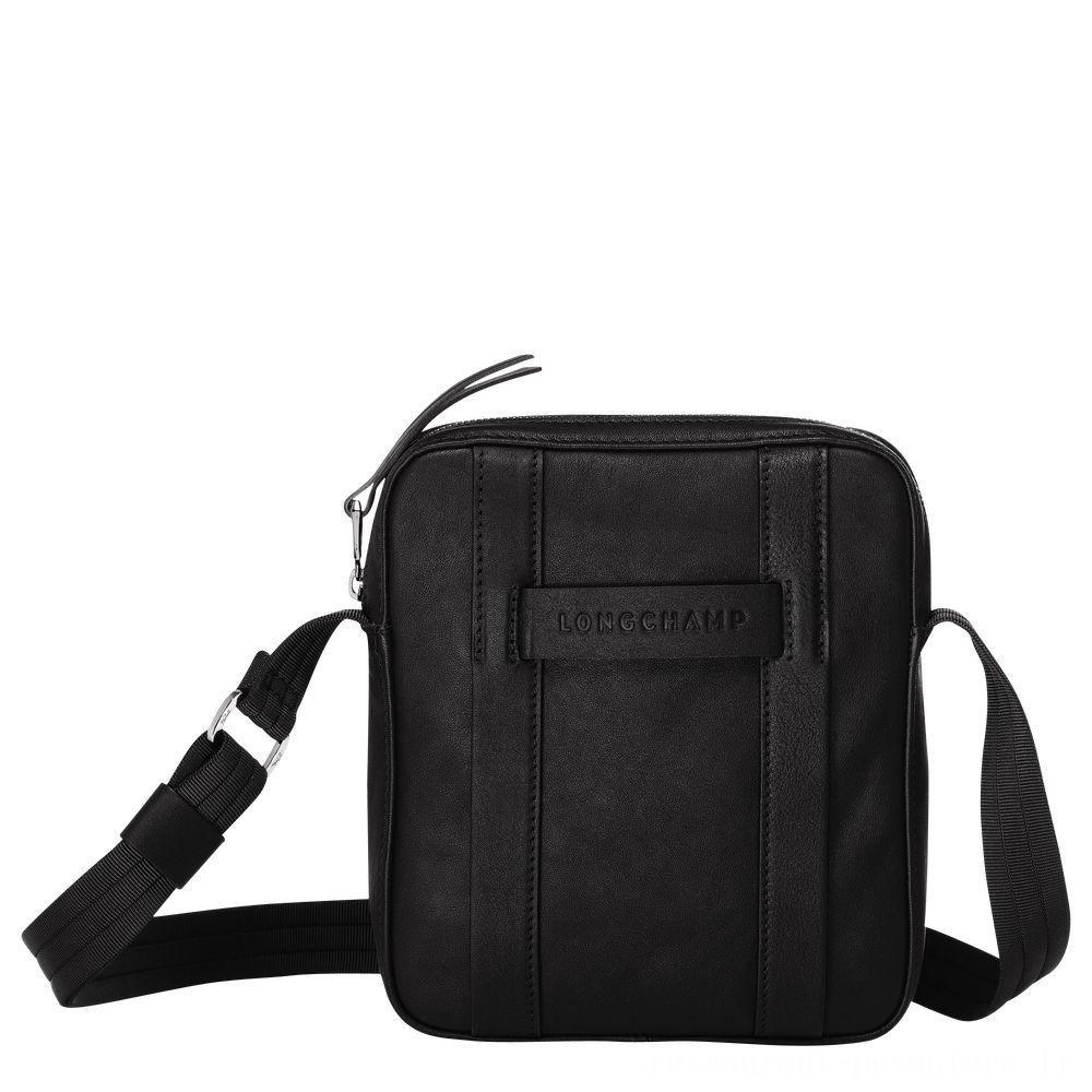 Longchamp 3D Sac porté travers S - Noir Pas Cher