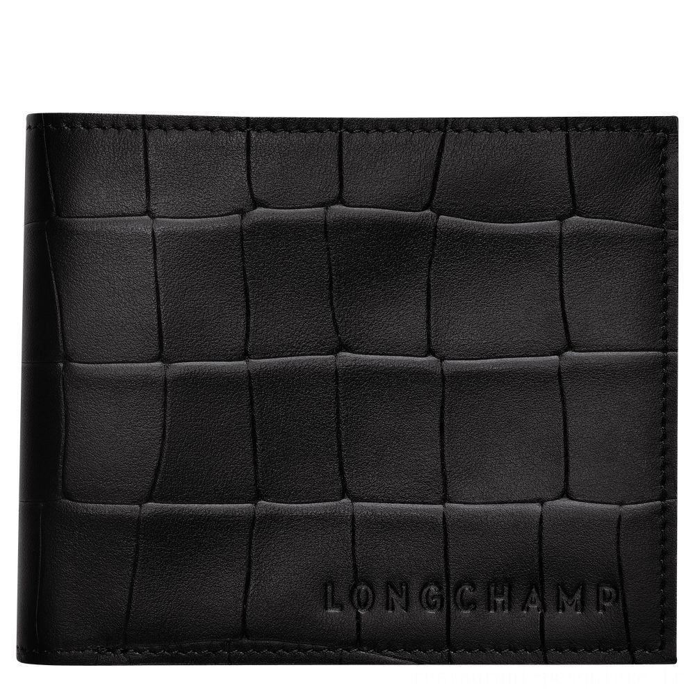 Croco Block Portefeuille - Noir Soldes