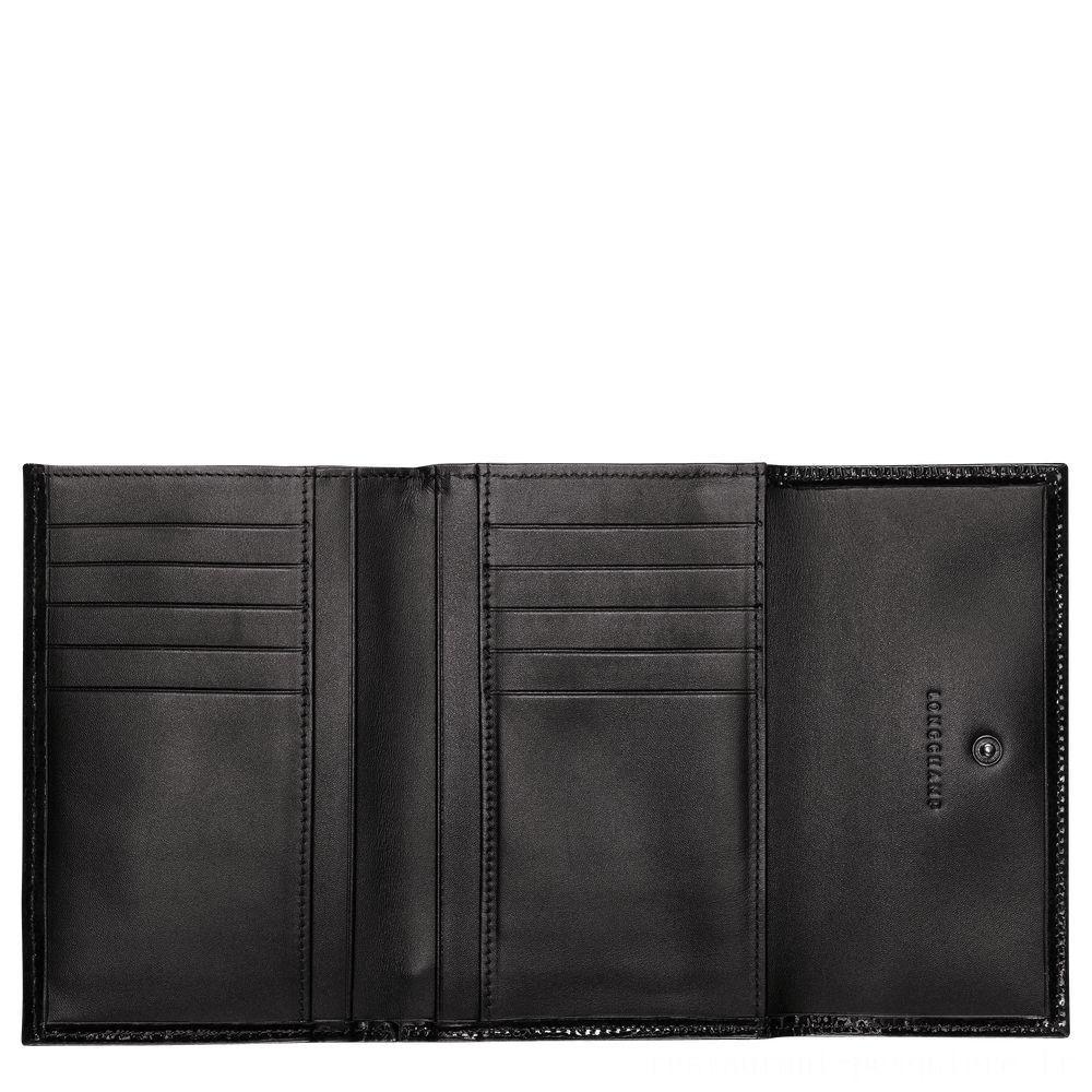 [Soldes] - Roseau Portefeuille compact - Noir