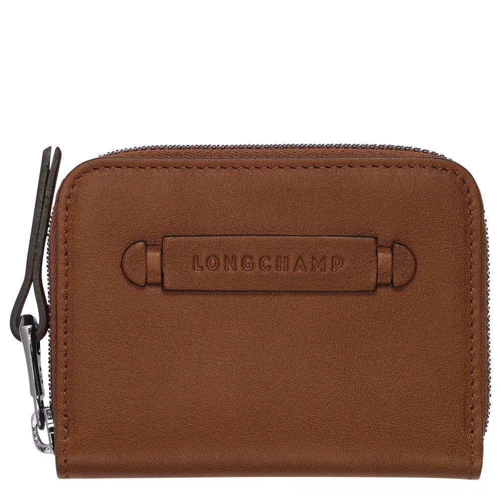 Longchamp 3D Porte-cartes - Cognac Soldes