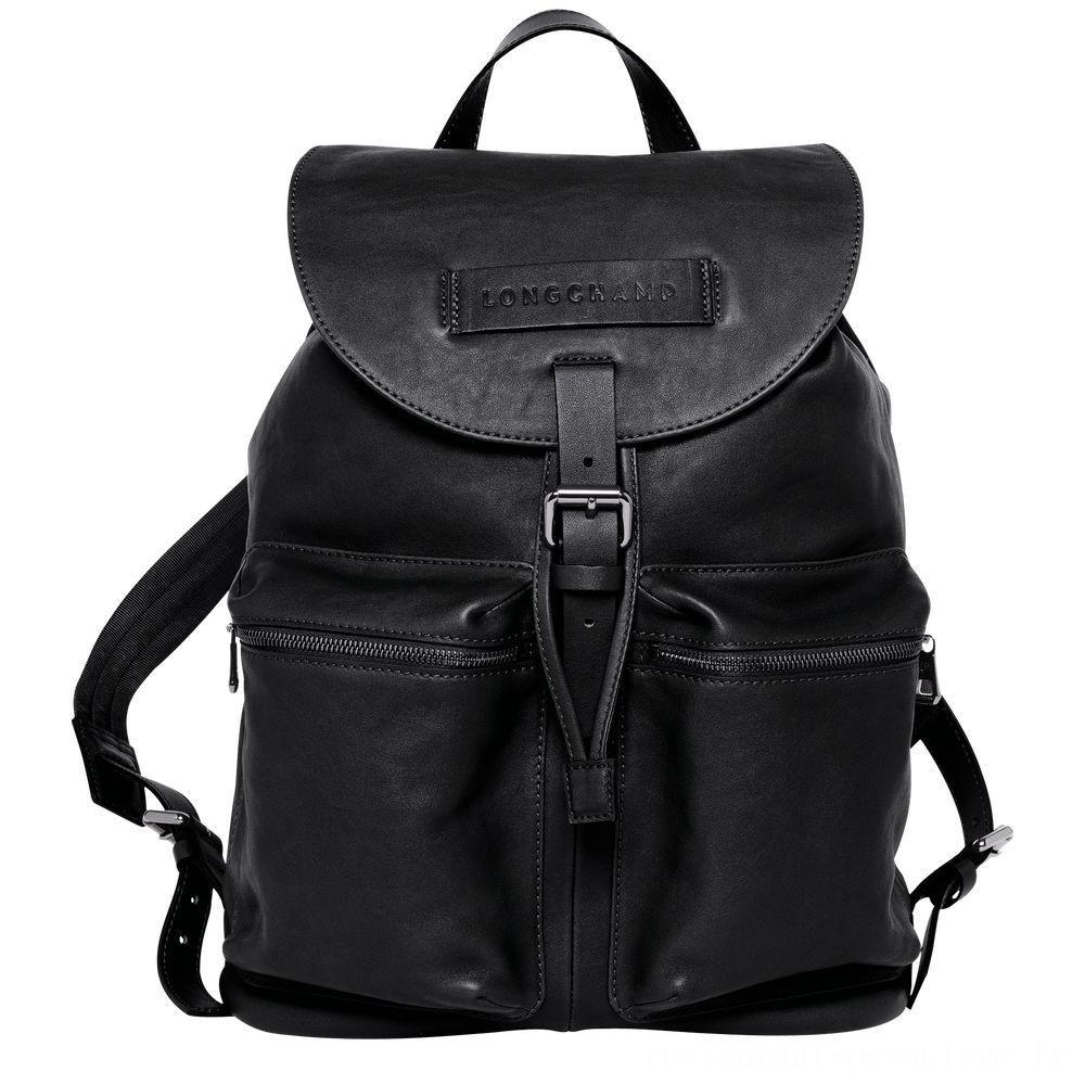 Longchamp 3D Sac à dos L - Noir Soldes
