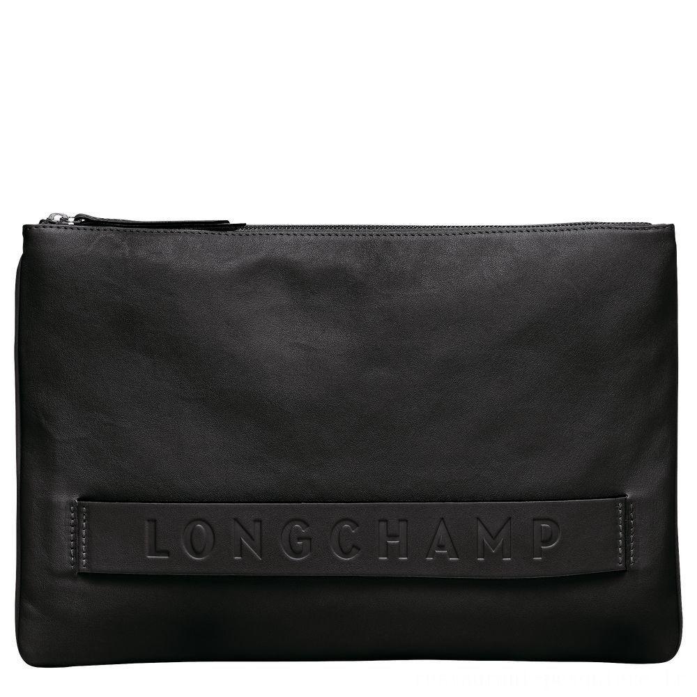 Longchamp 3D Pochette - Noir Soldes