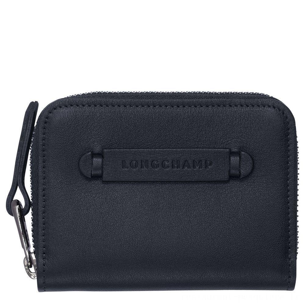 [Vente] - Longchamp 3D Porte-cartes - Minuit