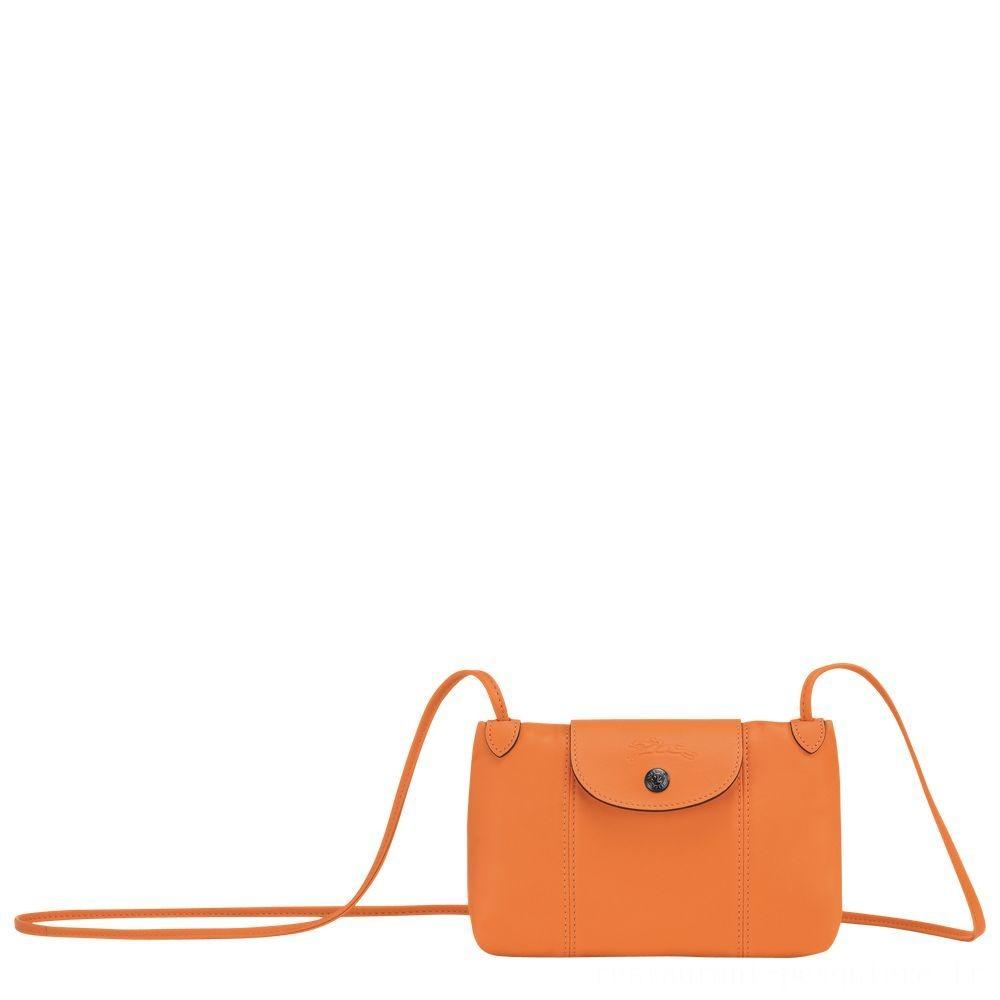 Le Pliage Cuir Sac porté travers - Orange Pas Cher
