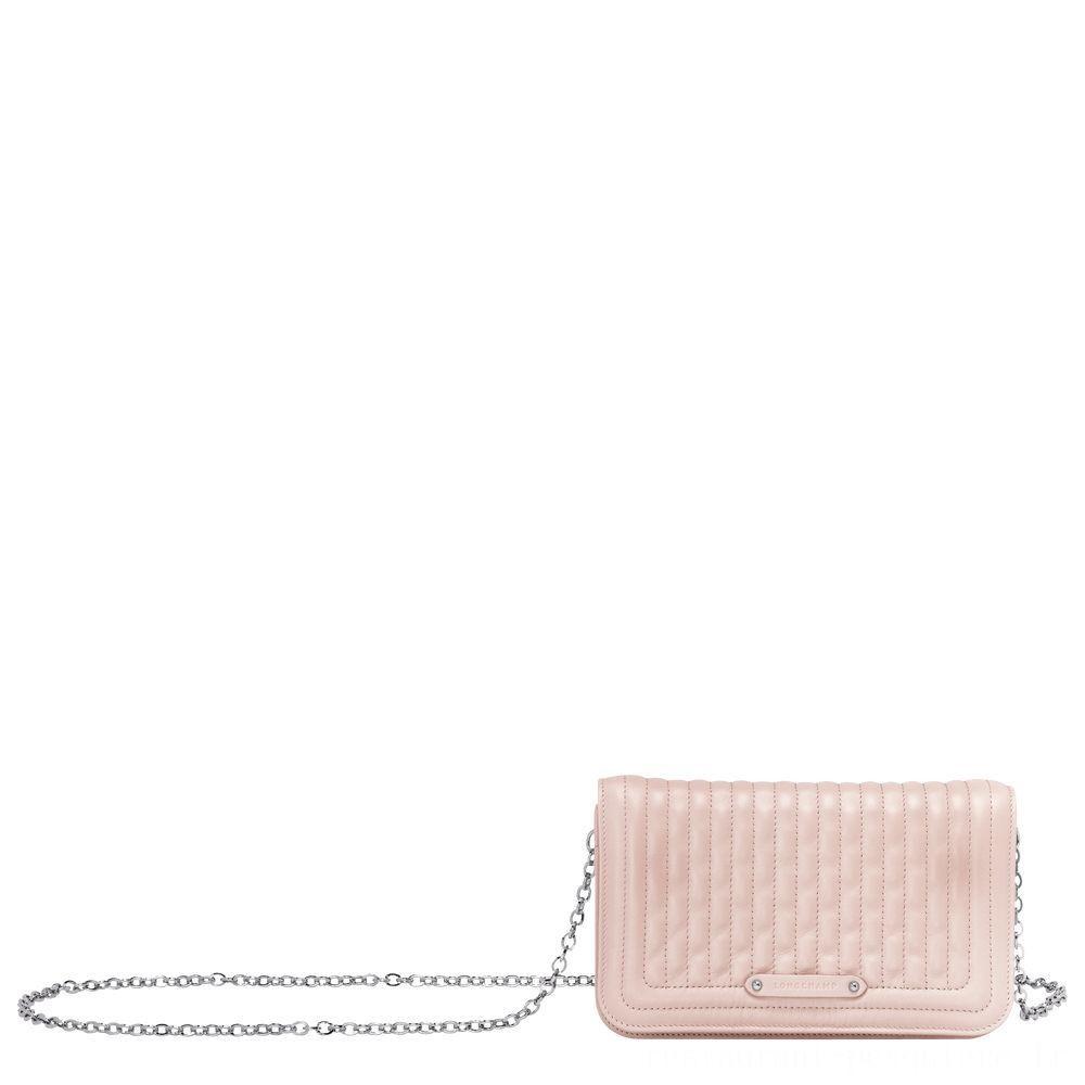 [Soldes] - Amazone Pochette chainette - Rose Pâle