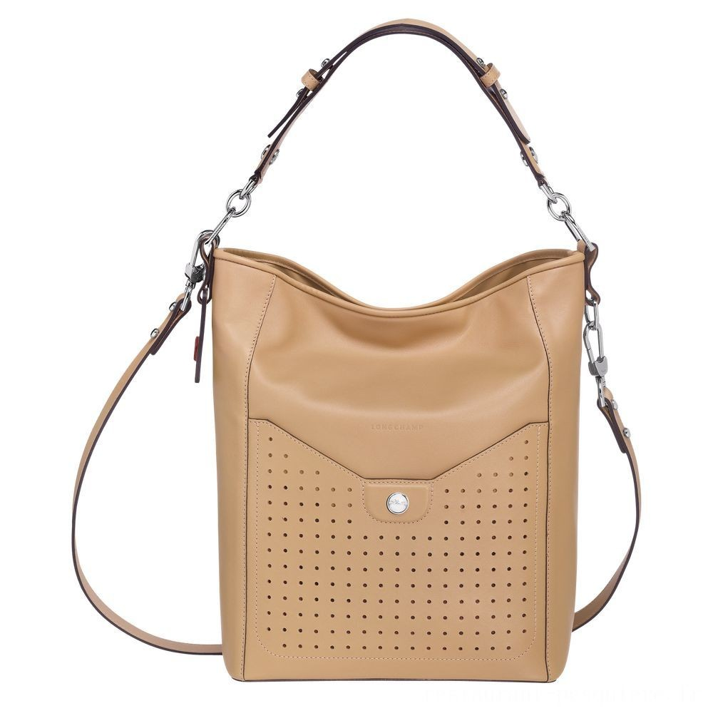 Mademoiselle Longchamp Besace - Beige Soldes