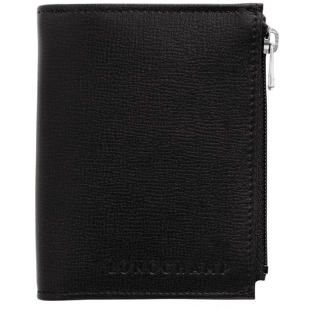 [Soldes] - Baxi Portefeuille compact - Noir