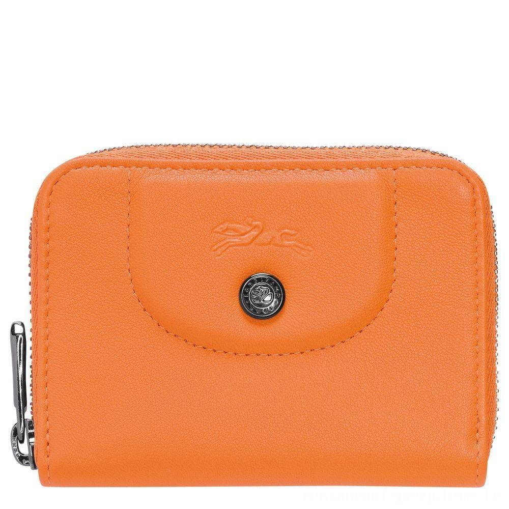 [Soldes] - Le Pliage Cuir Porte-cartes - Orange
