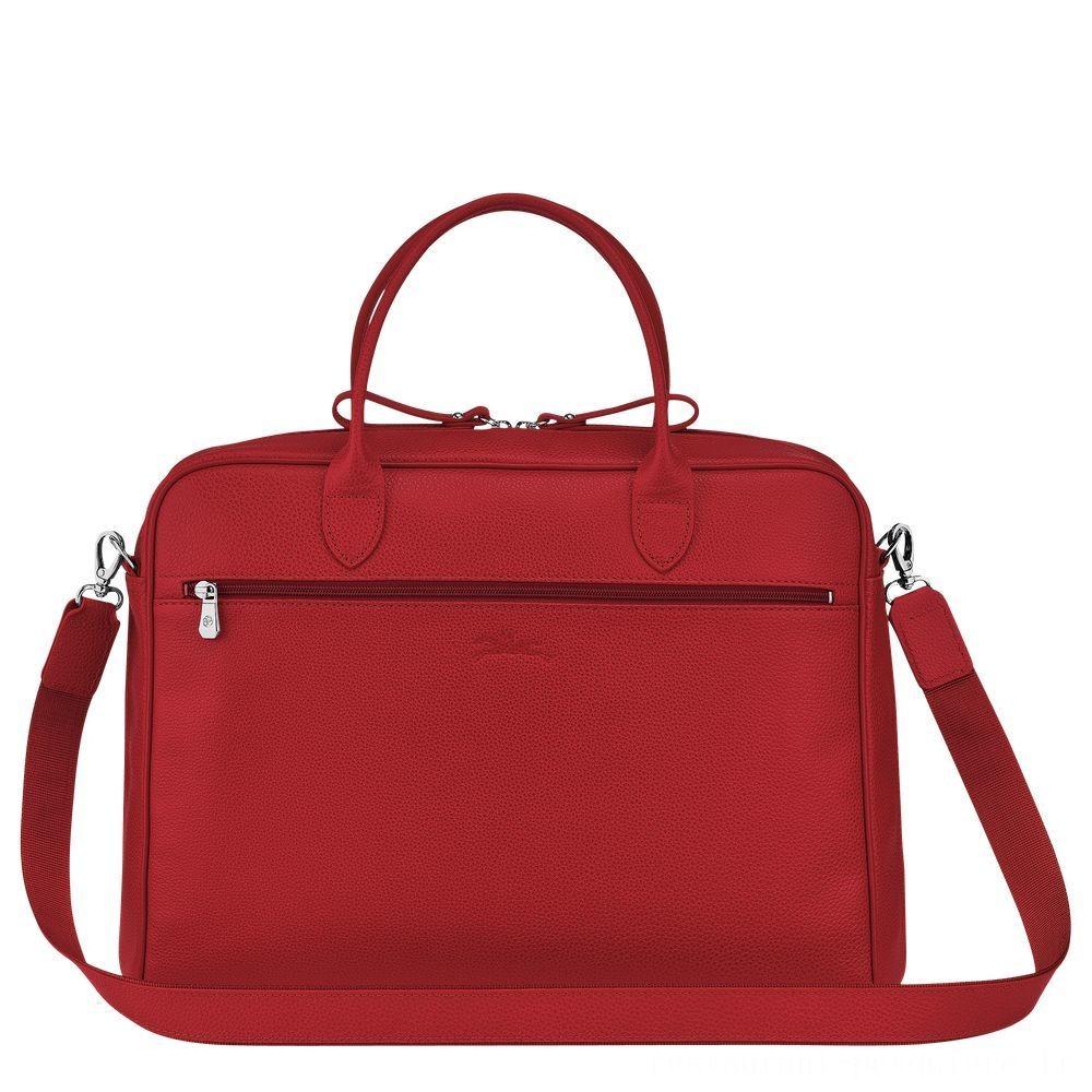 [Soldes] - Le Foulonné Porte-documents - Rouge