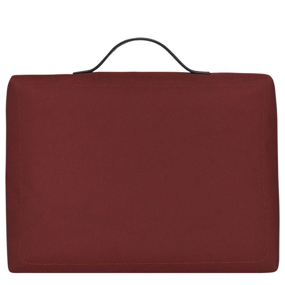 Boxford Porte-documents - Rouge Laque Pas Cher