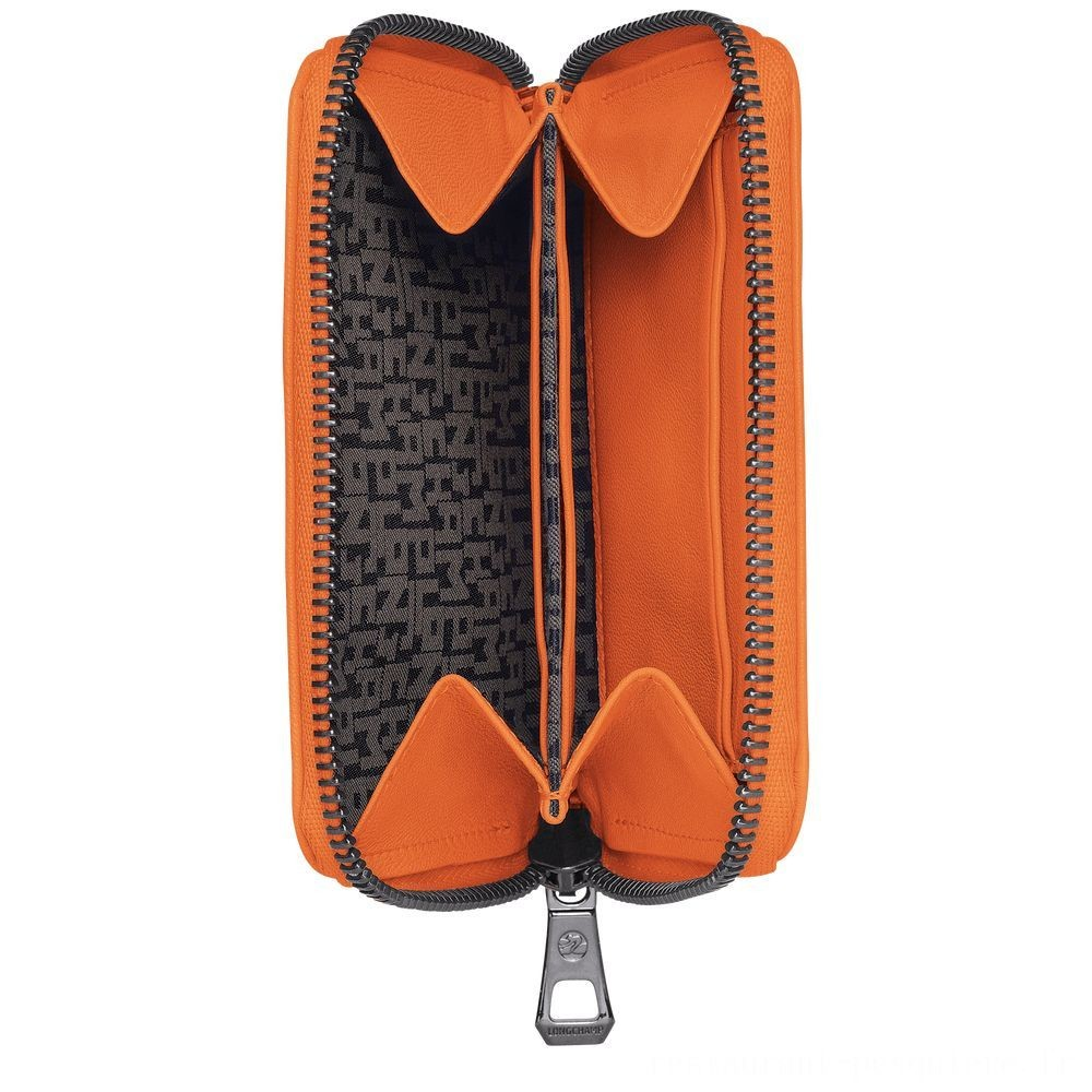 [Vente] - Le Pliage Cuir Porte-monnaie - Orange