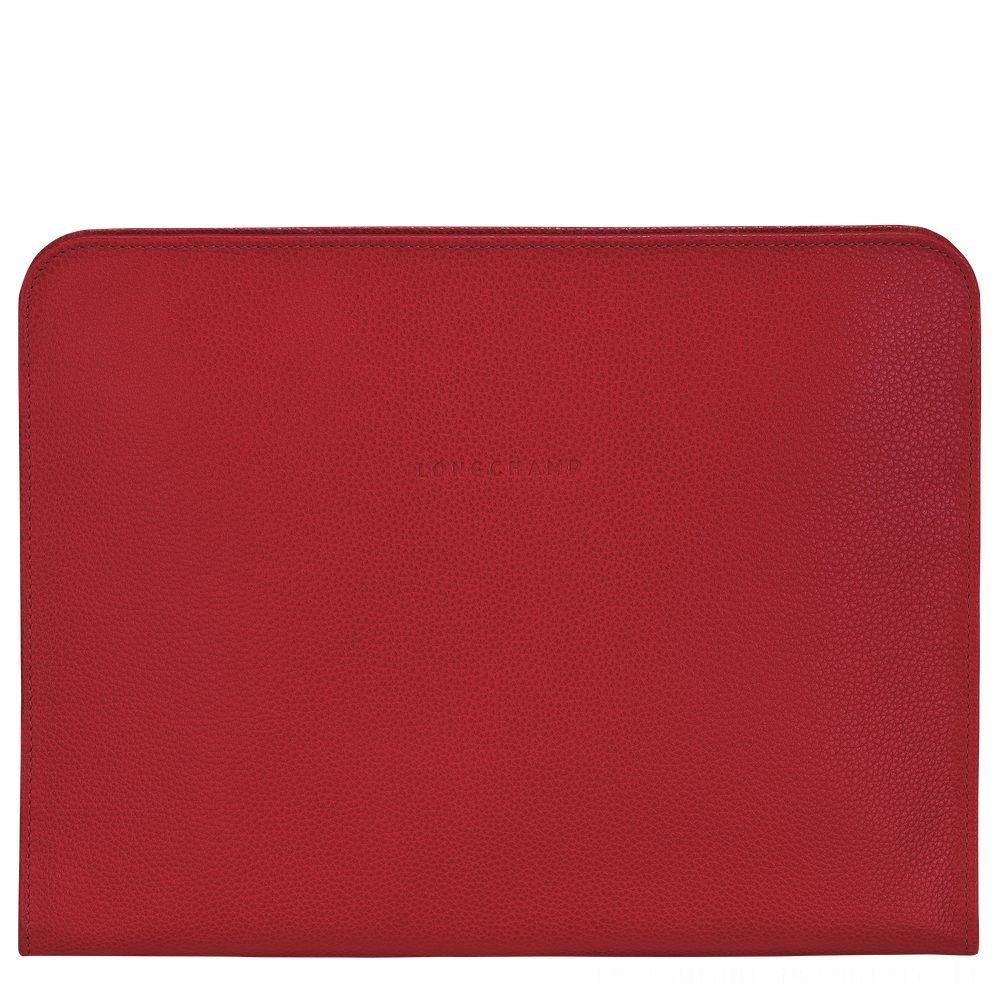 Le Foulonné Étui ordinateur 13'' - Rouge Pas Cher