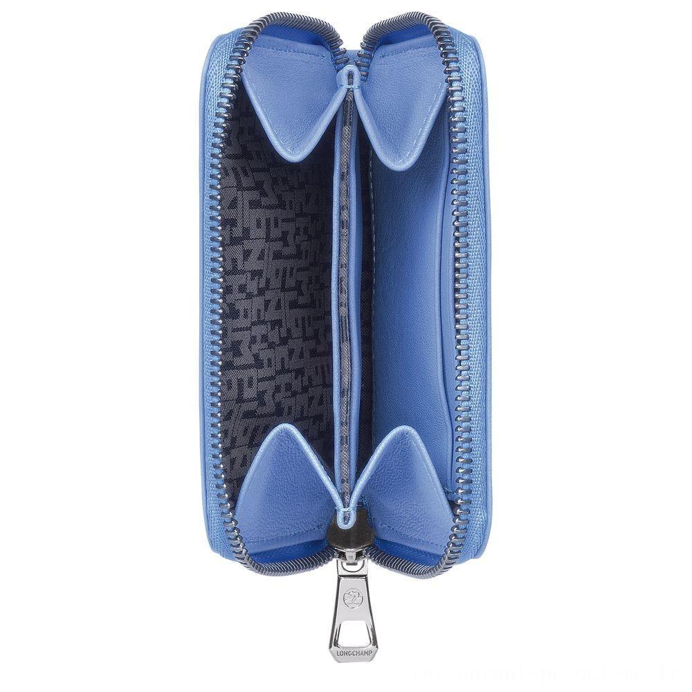 Le Pliage Cuir Porte-monnaie - Bleu Pas Cher