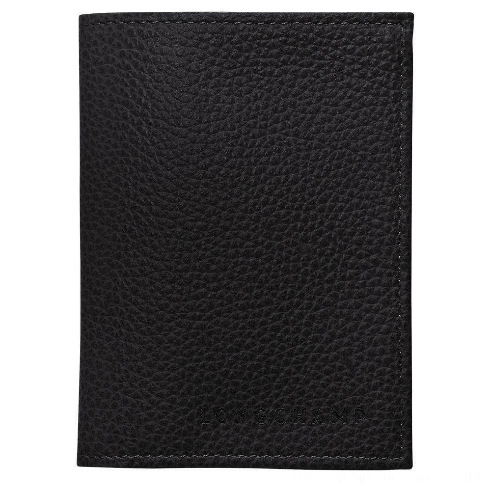 Le Foulonné Porte-cartes - Noir Pas Cher